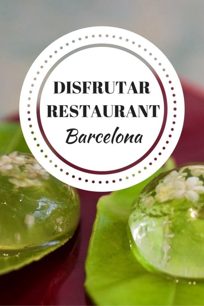 Disfrutar Barcelona Review (PIN)