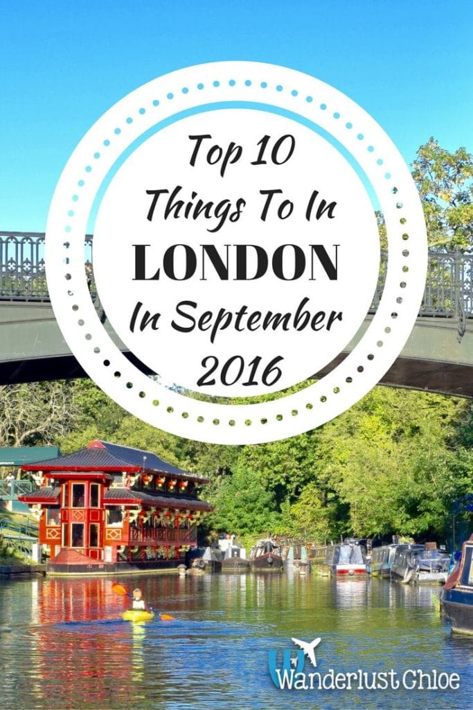 Top 10 Things To Do In London In September 2016