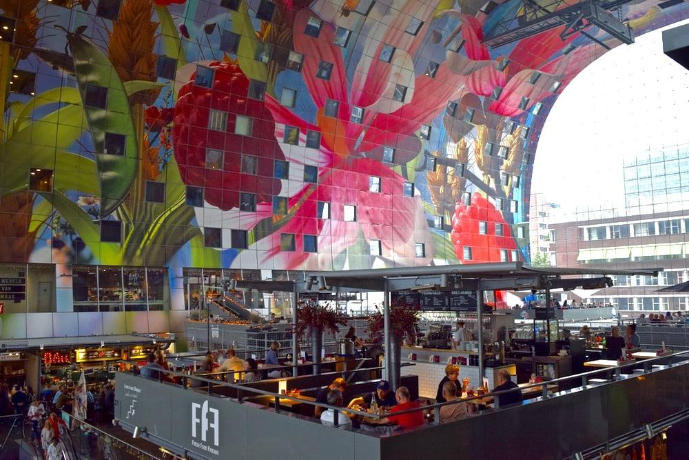 Interior of Markthal, Rotterdam