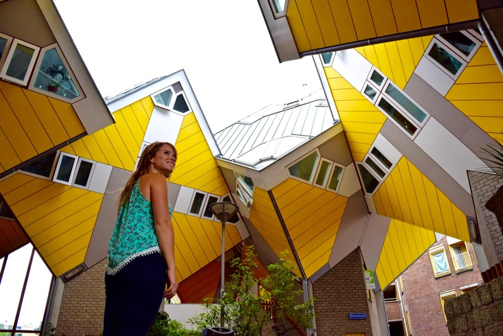 Checking out Rotterdam's Cube Houses