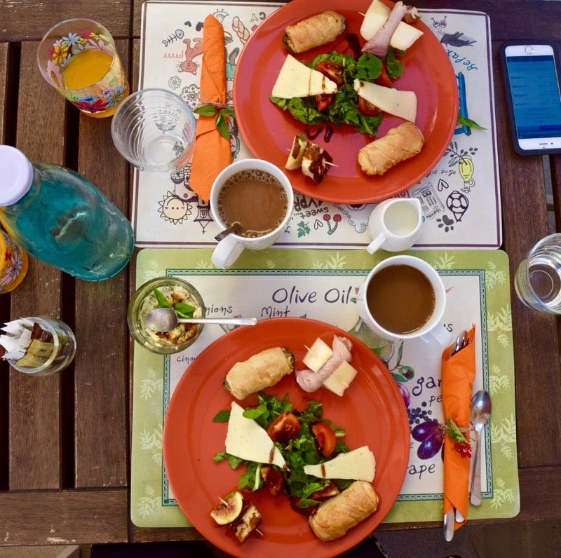 Breakfast at Stratos House, Kalavasos, Cyprus
