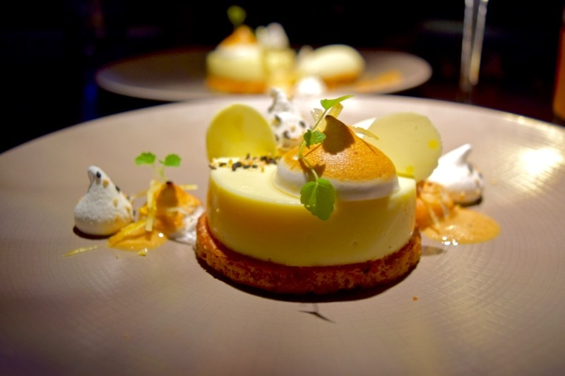 Lemon dessert at Hakkasan, London