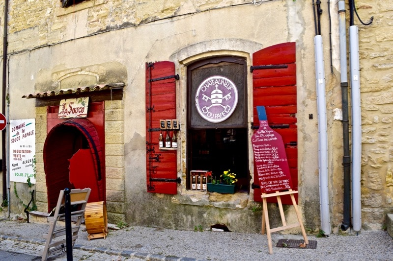 Wine store in Châteauneuf-du-Pape, France