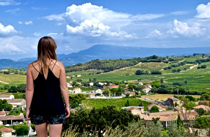 Enjoying the incredible views in Châteauneuf-du-Pape, France