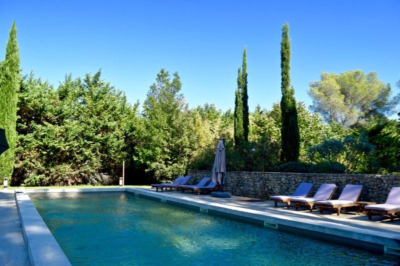 Swimming pool at Château La Tour Vaucros, Provence