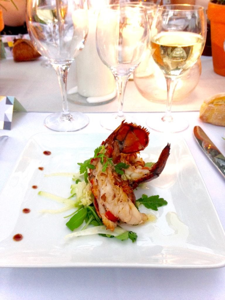 Delicious lobster lunch in Provence