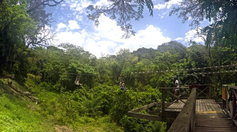 Zip-lining in St Kitts