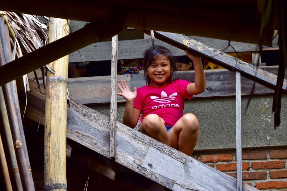 Friendly kids at Anklung Udjo, Bandung, Indonesia