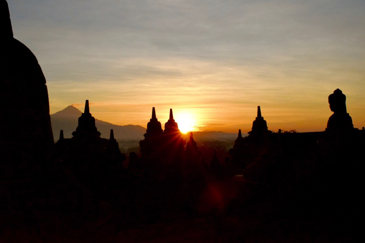 Sunrise at Borobudur, Indonesia