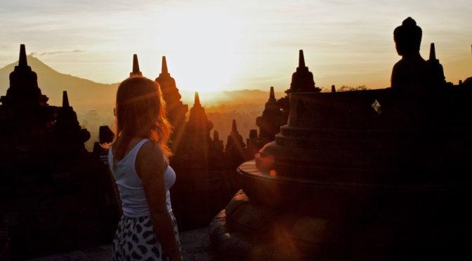 Sunrise At Borobudur, Indonesia