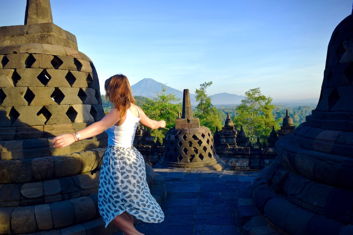 Enjoying time at Borobudur, Indonesia