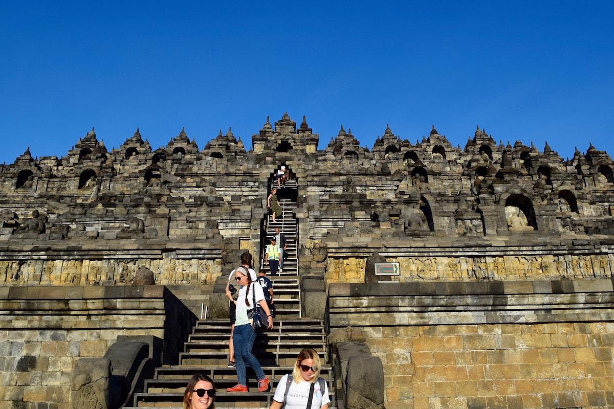 Main steps at Borobudur, Indonesia