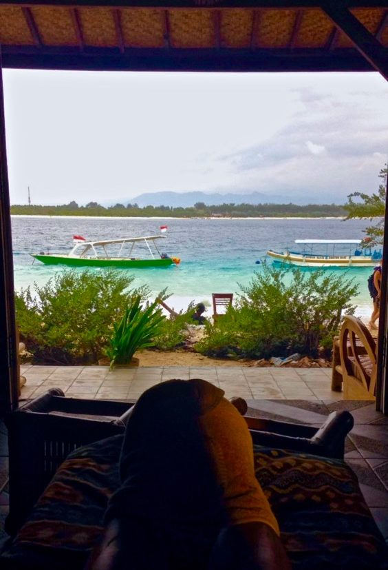 View from Kusuka Spa in Gili T