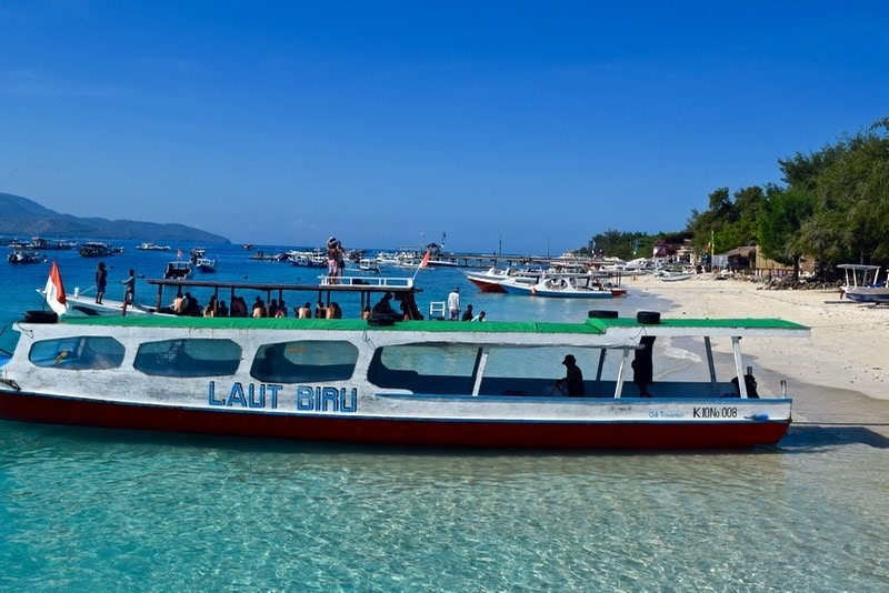 Boats in Gili T