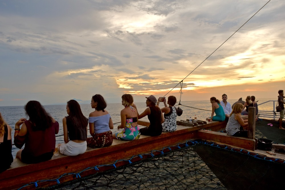 Sunset boat trip in Gili T