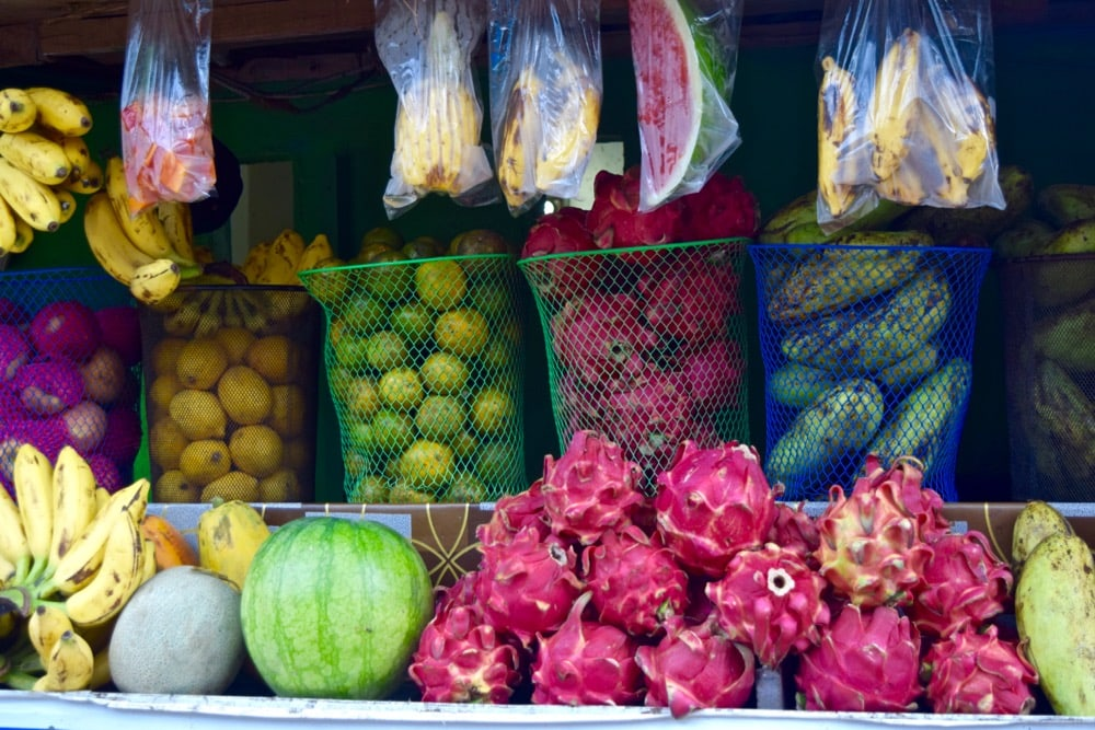Exotic fruits in Gili T