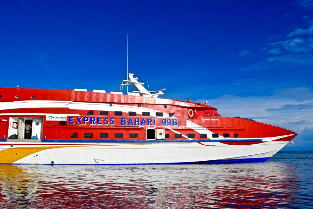 Bahari Express ferry from Sorong to Waisai