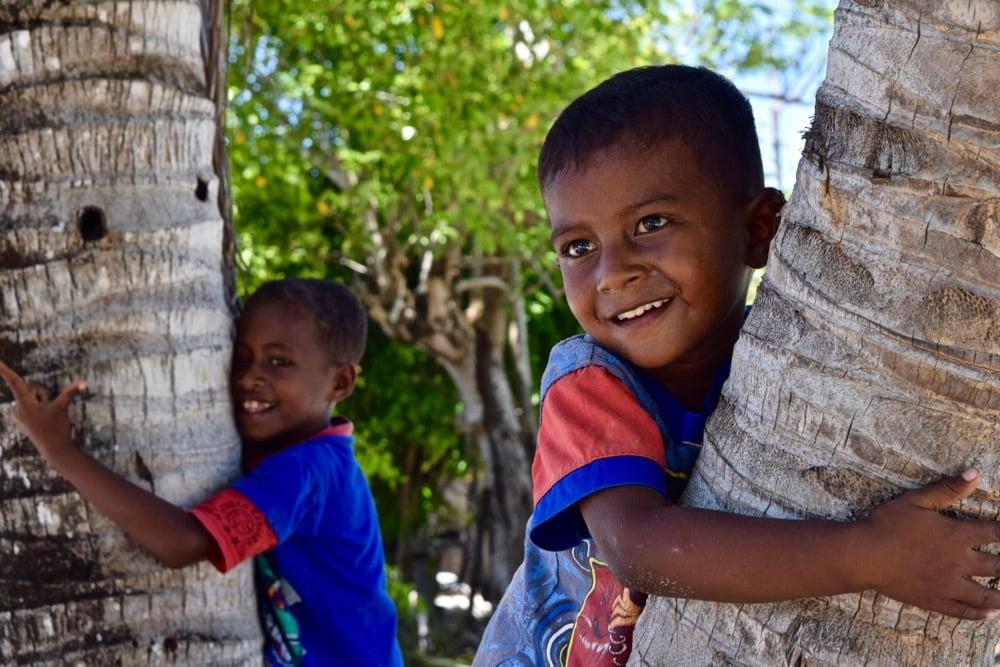 Meeting the kids in Arborek Village, Raja Ampat