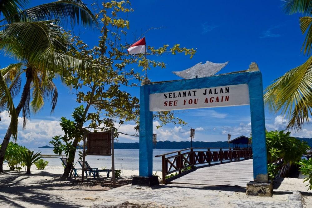 Sign in Arborek Village, Raja Ampat