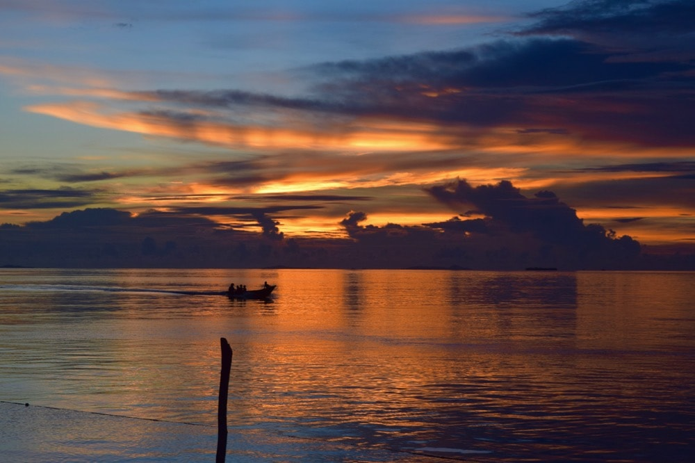 Amazing sunsets in Raja Ampat, Indonesia