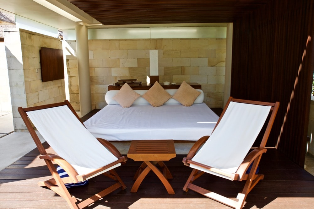 Private daybed area at The Bale, Nusa Dua, Bali