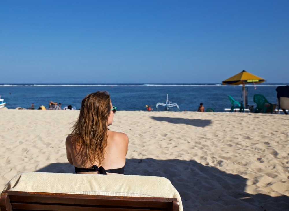 Enjoying The Bale Beach Club, Nusa Dua, Bali