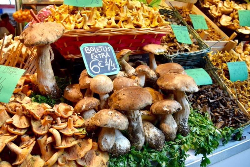 Vegetables for sale at Mercado Central de Atarazanas, Malaga, Spain