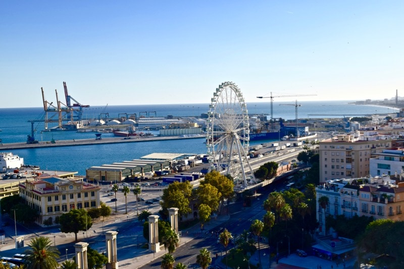 Malaga wheel and port - a top thing to do in Malaga