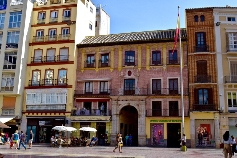 Plazas of Malaga, Spain