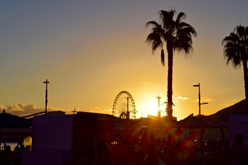 What to do in Malaga after a busy day of exploring? Enjoy one ofMalaga's famous sunsets!