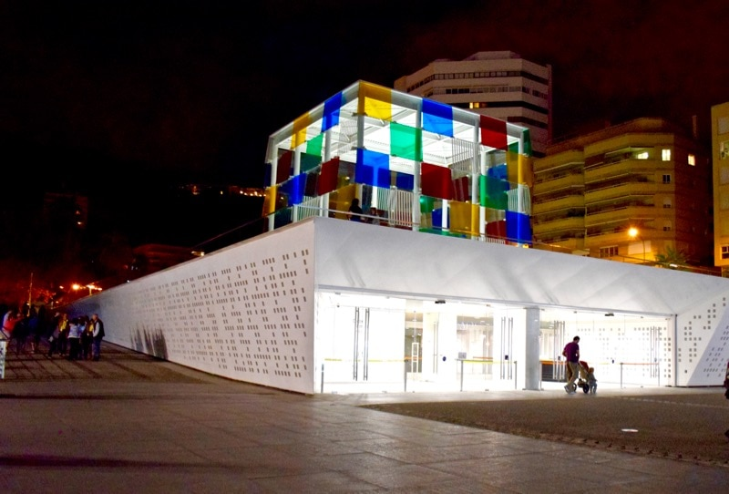 Pompidou Centre at night, Malaga