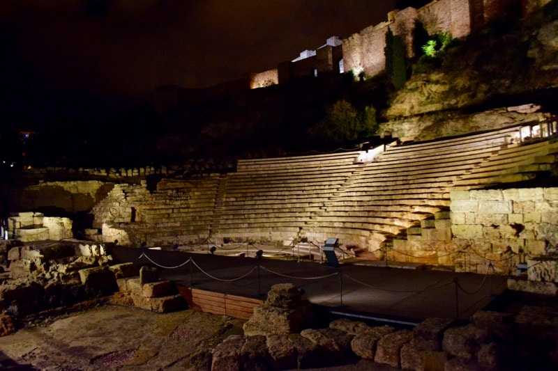 Visit Malaga for its history - Roman amphitheatre ruins in Malaga, Spain