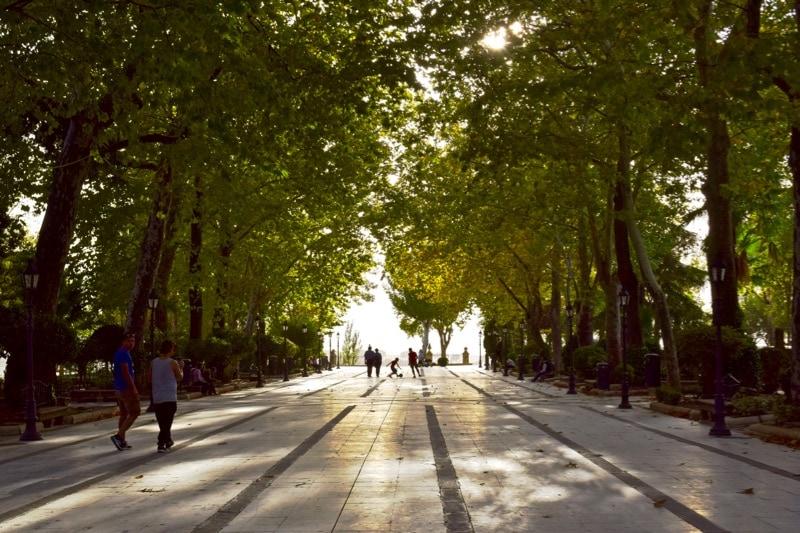 Ronda's public gardens, Spain