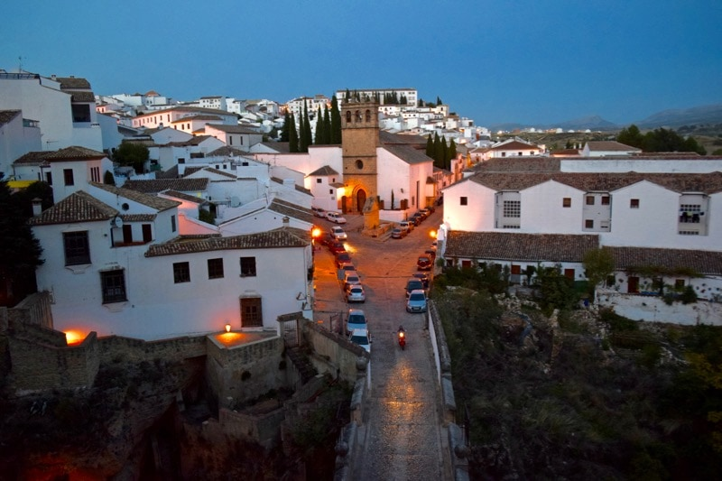 Cute white houses in Ronda, Spain