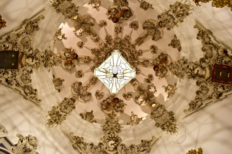 Beautiful ceiling at Museo Municipal De Antequera, Spain