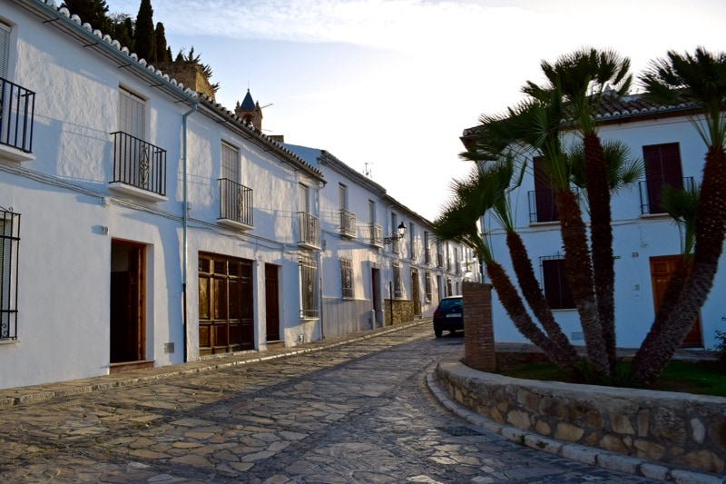 Beautiful white streets in Antequera, Spain