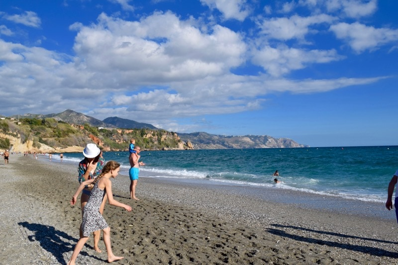 A trip to the Playa de Burriana Beach - one of the top things to do in Nerja!