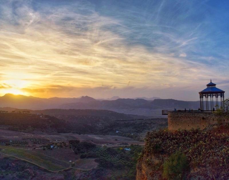 Breathtaking sunsets in Ronda, Spain