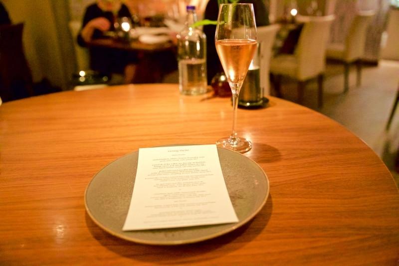 The menu at The Artichoke, Amersham