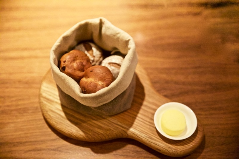 Delicious freshly baked breads at The Artichoke, Amersham