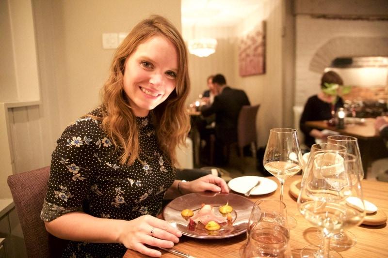 Enjoying dinner at The Artichoke, Amersham