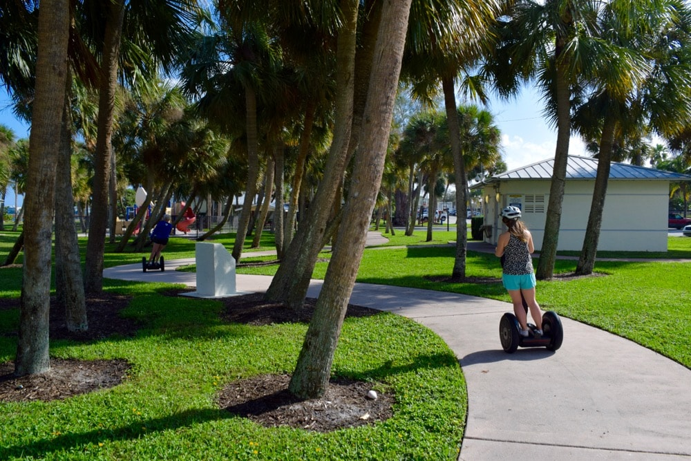 Segway tour around Stuart, Martin County, Florida