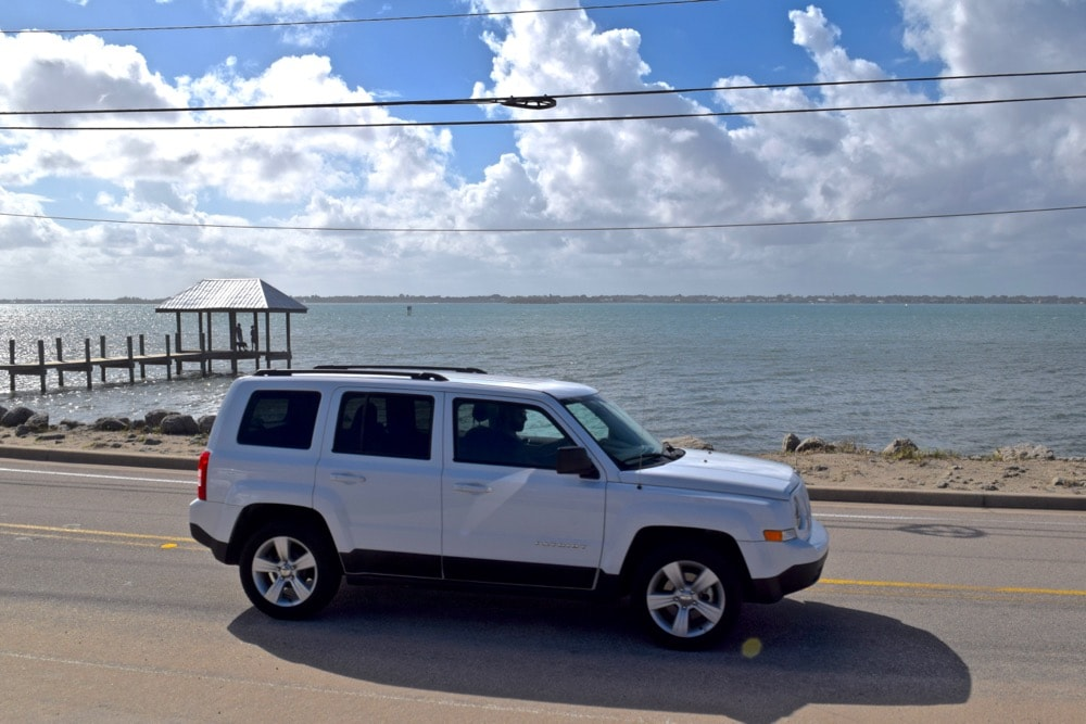Road tripping around Martin County in our Hertz Jeep