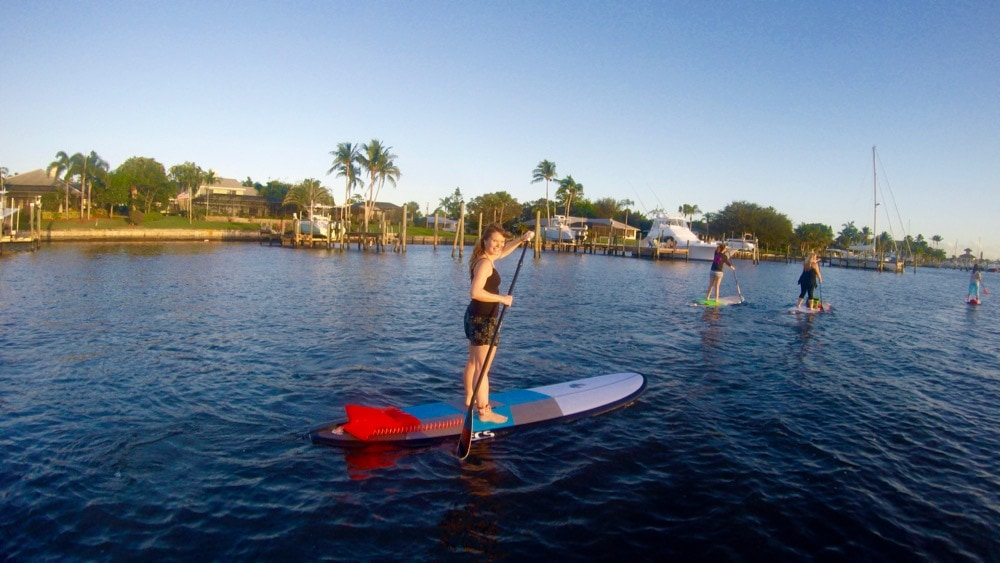 Stand up paddle boarding in Martin County, Florida