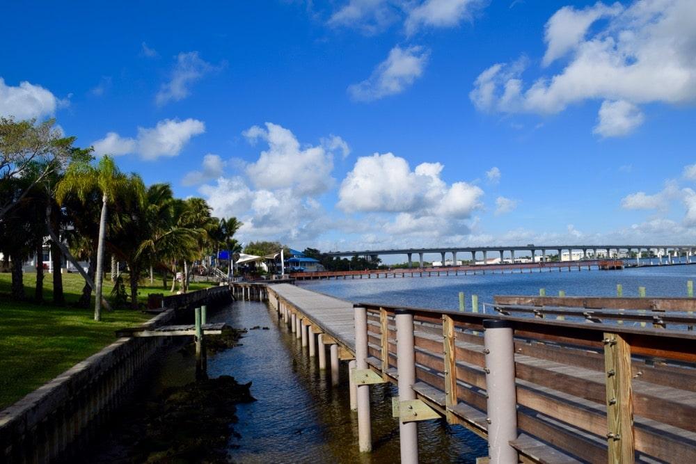 Boardwalk in Stuart, Martin County, Florida