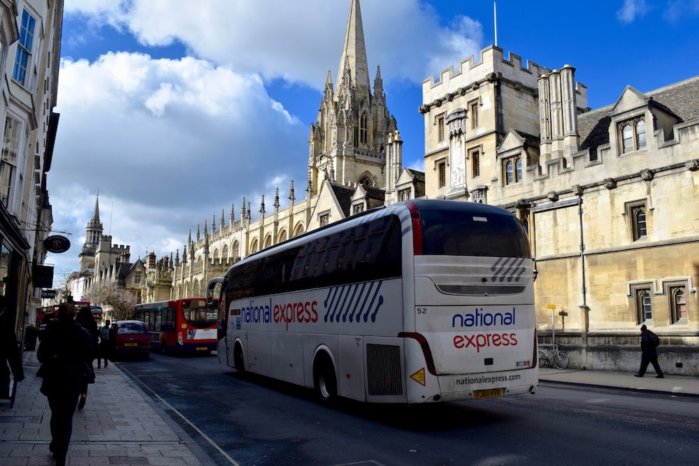 National Express coach in Oxford