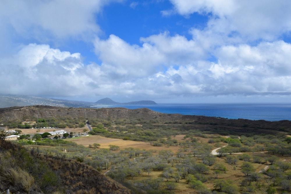 Amazing views from Diamond Head Trail, Hawaii