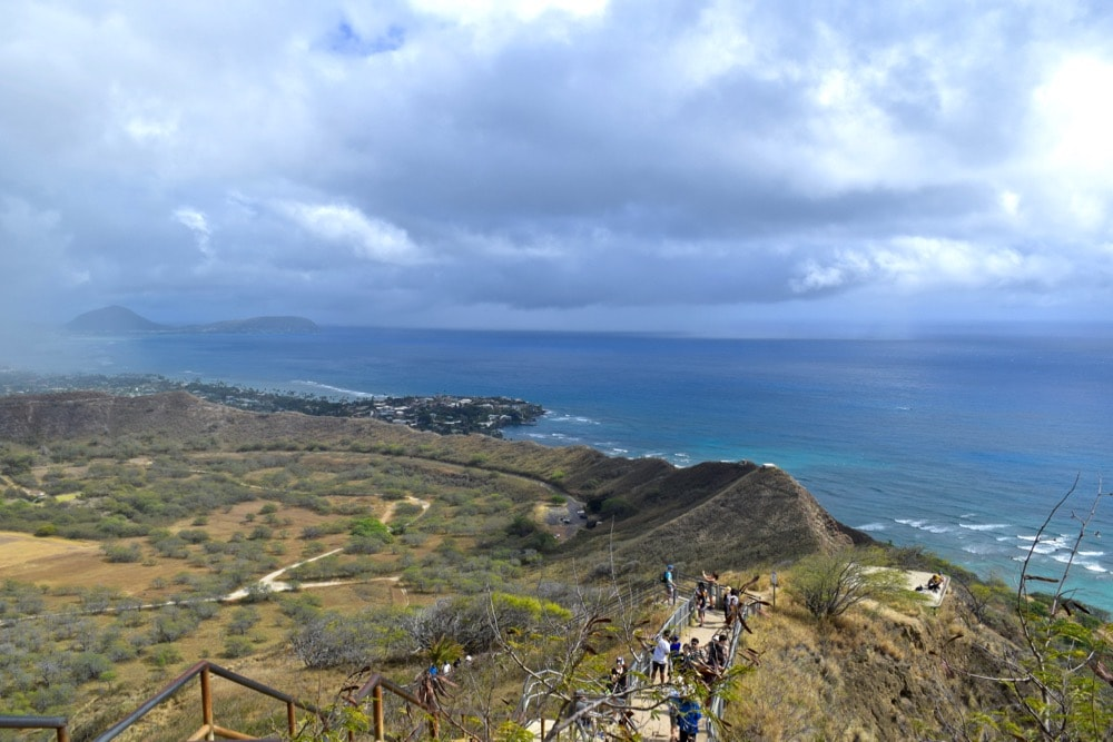 Views from Diamond Head Trail, Hawaii