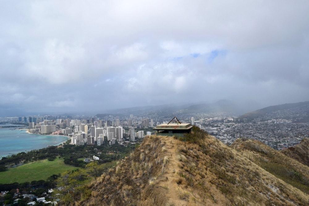 View of Honolulu from Diamond Head Trail, Hawaii