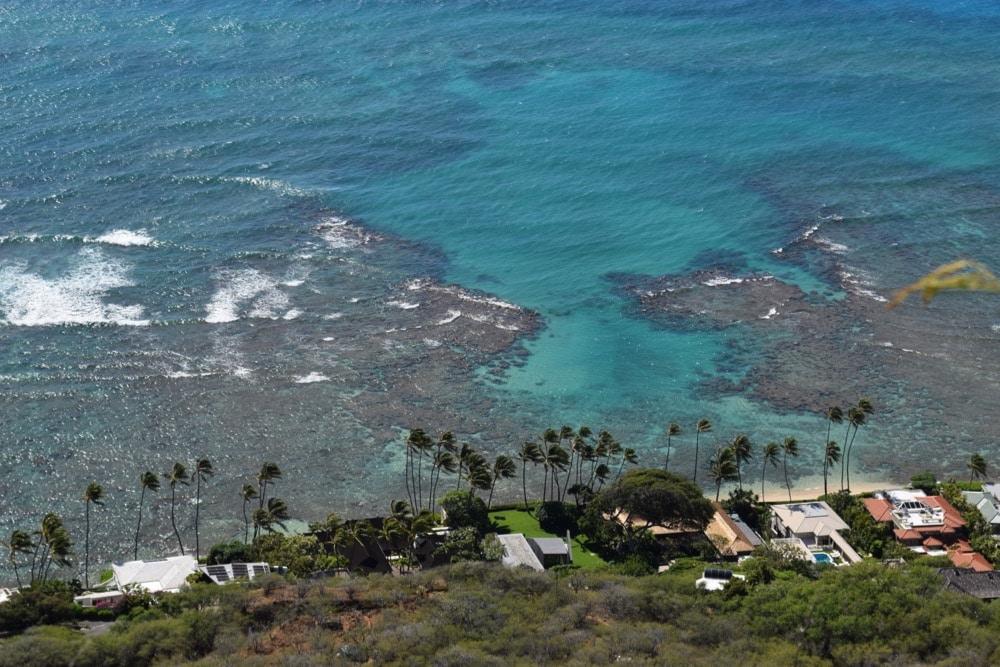 Crystal clear water in Hawaii